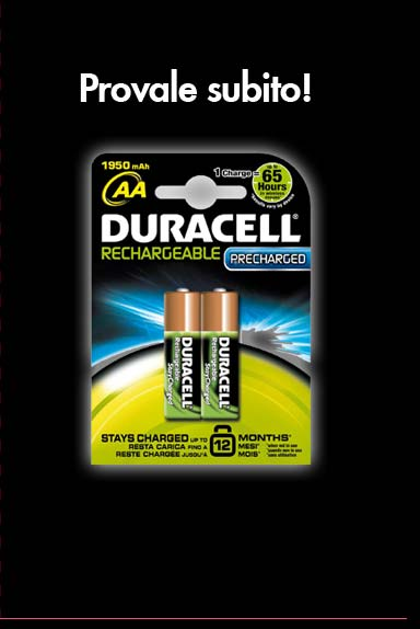 Prova Gratis Le Batterie Duracell Ricaricabili
