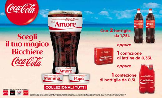Coca-Cola Bicchiere Share a Coke 2013 in Omaggio