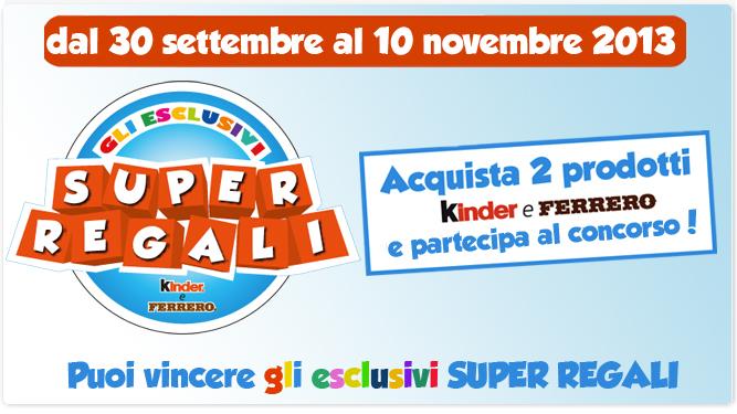 Kinder Ferrero Concorso Super Regali