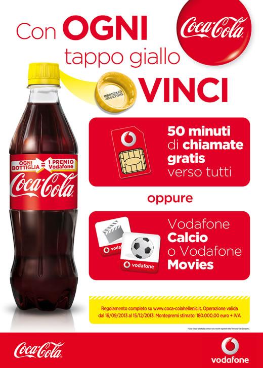 Ogni Bottiglia Coca-Cola un premio Vodafone!
