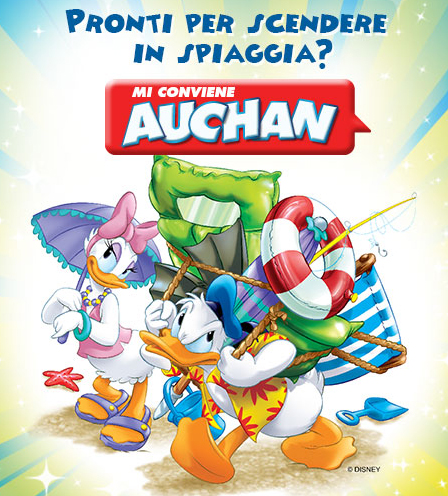 Auchan Colleziona i Teli Mare Disney
