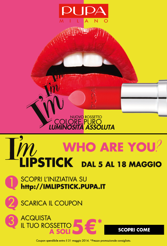 PUPA Coupon Sconto Rossetto I'M