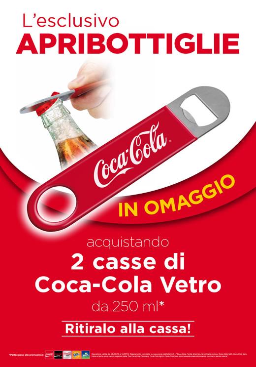 Subito per te un fantastico apribottiglie Coca-Cola!