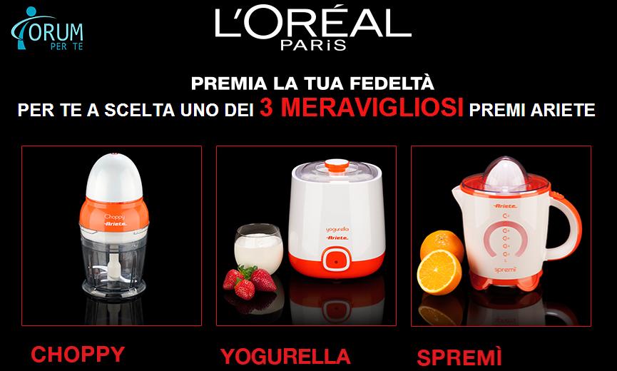 L'Oréal ti regala elettrodomestici Ariete