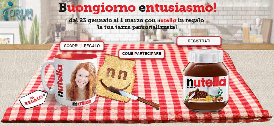 Con Nutella In Omaggio Tazza Personalizzata