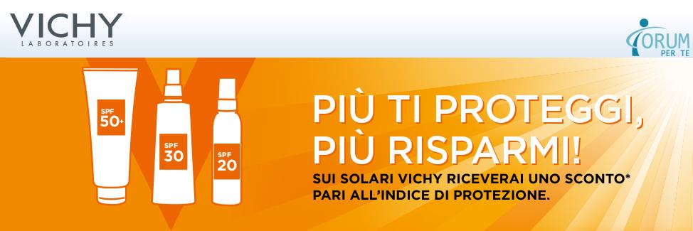 Buoni sconto Vichy sui solari