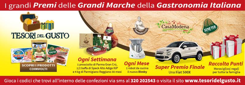 TESORI DEL GUSTO 2015 Parmareggio, Casa Modena e Senfter