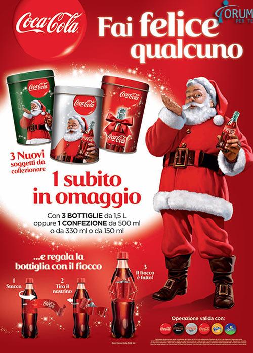 Arriva il Natale con i barattoli Coca-Cola