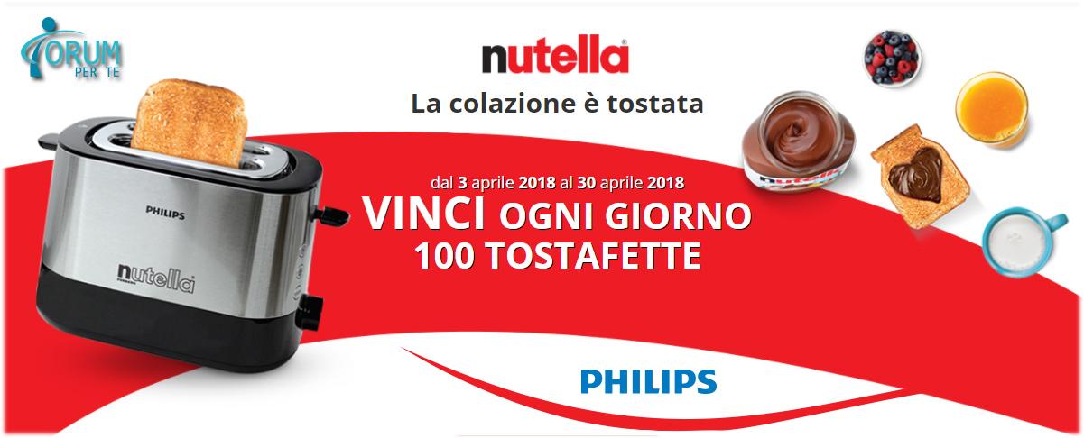 Con NUTELLA Vinci il Tostafette Philips