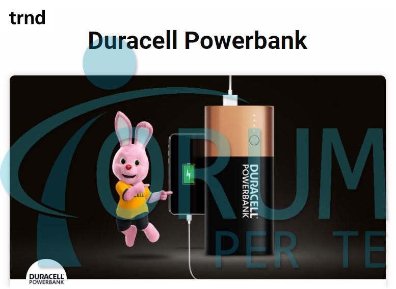 Duracell Powerbank con TRND